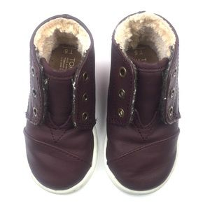 Toms Paseo High Toddler Boot Burgundy/Brown Sz 5T